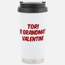 Toris is grandmas valentine Travel Mug