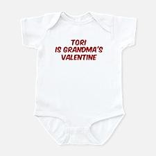Toris is grandmas valentine Infant Bodysuit