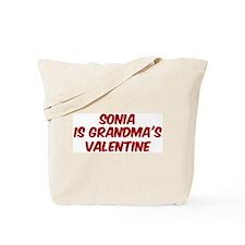 Sonias is grandmas valentine Tote Bag