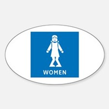 Public Toilet Women, California, USA Decal