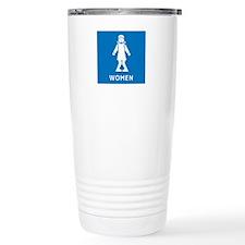 Public Toilet Women, California, USA Travel Mug