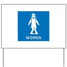 Public Toilet Women, California, USA Yard Sign