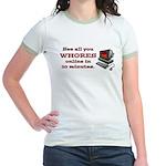 Whores Online Jr. Ringer T-Shirt