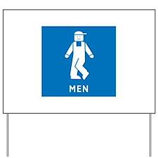 Public Toilet Men, California, USA Yard Sign