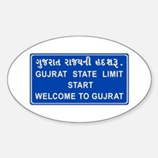 Welcome To Gujarat, India Oval Decal