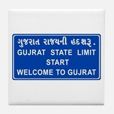 Welcome To Gujarat, India Tile Coaster