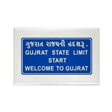 Welcome To Gujarat, India Rectangle Magnet