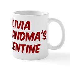 Olivias is grandmas valentine Mug