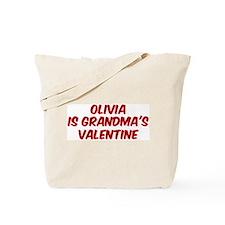 Olivias is grandmas valentine Tote Bag