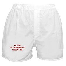 Olivias is grandmas valentine Boxer Shorts