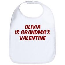 Olivias is grandmas valentine Bib