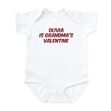 Olivias is grandmas valentine Infant Bodysuit