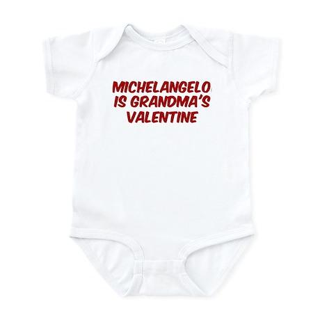 Michelangelos is grandmas val Infant Bodysuit
