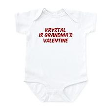 Krystals is grandmas valentin Infant Bodysuit