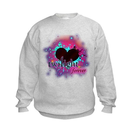twilight forever dark heart Kids Sweatshirt