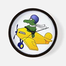 Gator Plane Wall Clock