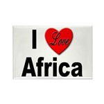 I Love Africa Rectangle Magnet (10 pack)