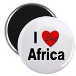 I Love Africa Magnet