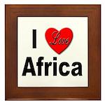 I Love Africa Framed Tile
