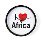 I Love Africa Wall Clock