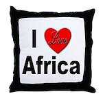 I Love Africa Throw Pillow
