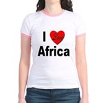 I Love Africa (Front) Jr. Ringer T-Shirt