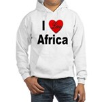 I Love Africa (Front) Hooded Sweatshirt