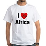I Love Africa (Front) White T-Shirt