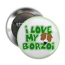"I Love my Borzoi 2.25"" Button"