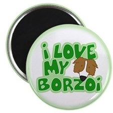 I Love my Borzoi Magnet