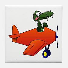 Gator Plane Tile Coaster