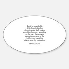 LEVITICUS 27:18 Oval Decal