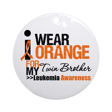 Leukemia (Twin Brother) Ornament (Round)