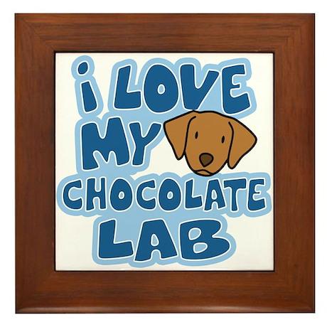 I Love my Chocolate Lab Framed Tile