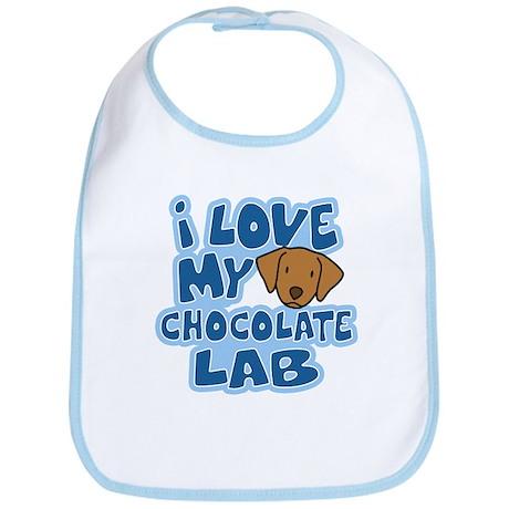I Love my Chocolate Lab Bib