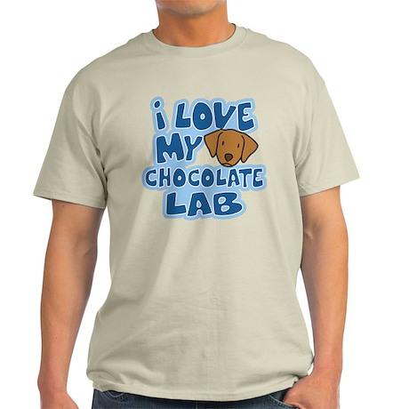 I Love my Chocolate Lab Light T-Shirt