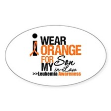 Leukemia (Son-In-Law) Oval Decal