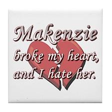 Makenzie broke my heart and I hate her Tile Coaste