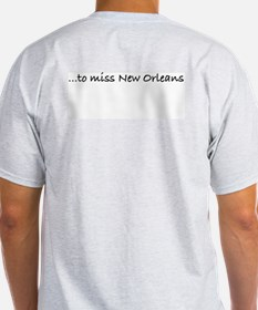 Missing New Orleans: French Q Ash Grey T-Shirt