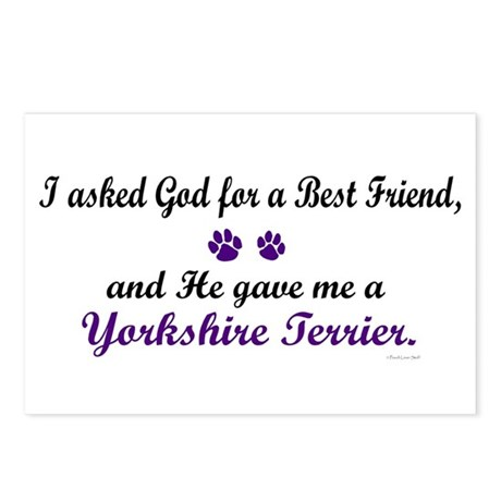 God Gave Me A Yorkshire Terrier Postcards (Package