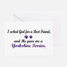 God Gave Me A Yorkshire Terrier Greeting Card