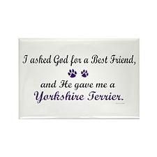 God Gave Me A Yorkshire Terrier Rectangle Magnet