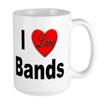 I Love Bands Large Mug