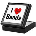 I Love Bands Keepsake Box