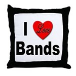 I Love Bands Throw Pillow