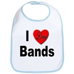 I Love Bands Bib