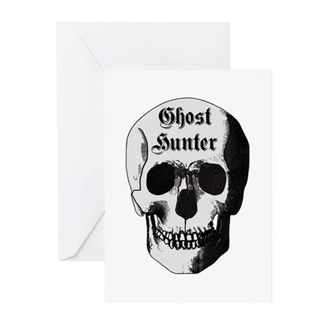 Ghost Hunter Skull Greeting Cards (Pk of 10)