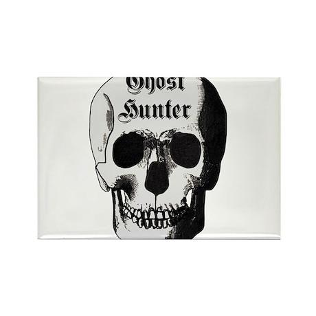 Ghost Hunter Skull Rectangle Magnet (10 pack)