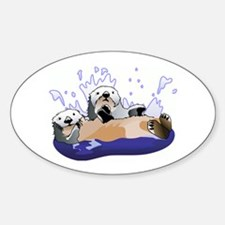 Otters Oval Decal