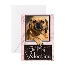 I love you man Puggle Greeting Card